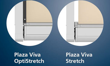 Basis-Version Stretch und Variante OptiStretch der Plaza Viva