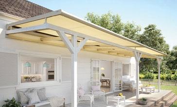 WGM Top lässt sich nahezu mit jedem Terrassen- oder Wintergartendach kombinieren