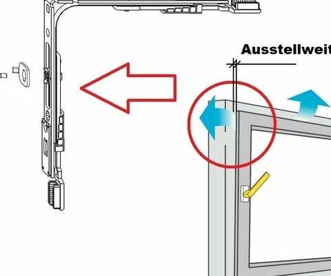 Mehrfachspaltlüftung für Fenster von WERU bei Wolter Bauelemente